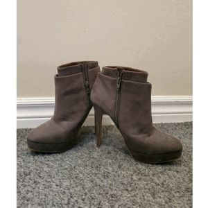 Zara grey suede ankle boots